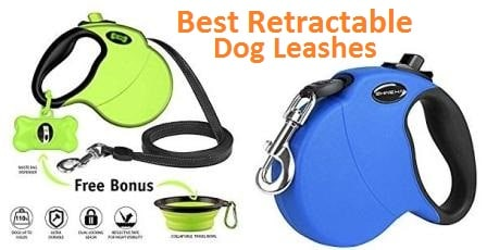 by Think Crucial Durable Blue Retractable 16FT Tape Leash for Small to Large Dogs up to 110LBS